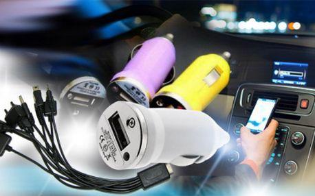 Univerzální ADAPTÉR do auta 10v1 jen za 129 Kč včetně POŠTOVNÉHO! Jednou nabíječkou může nabíjet celá rodina i na cestách! USB kabel nabije starší i nové tipy mobilních telefonů značky Nokia, iPhone a jiné!