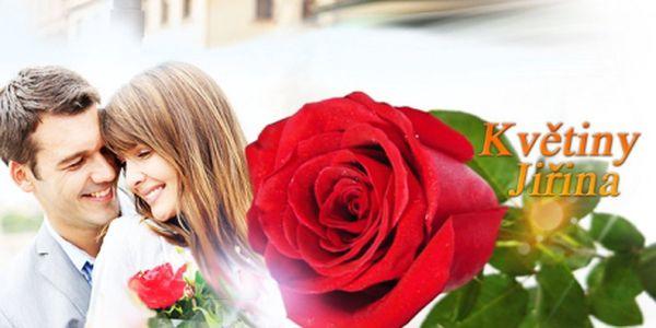 Darujte své milované VALENTÝNSKOU RŮŽI! Velkokvětá růže o délce 80cm za pouhých 75 Kč potěší každou! Možnost rozvozu po Českých Budějovicích i okolí!