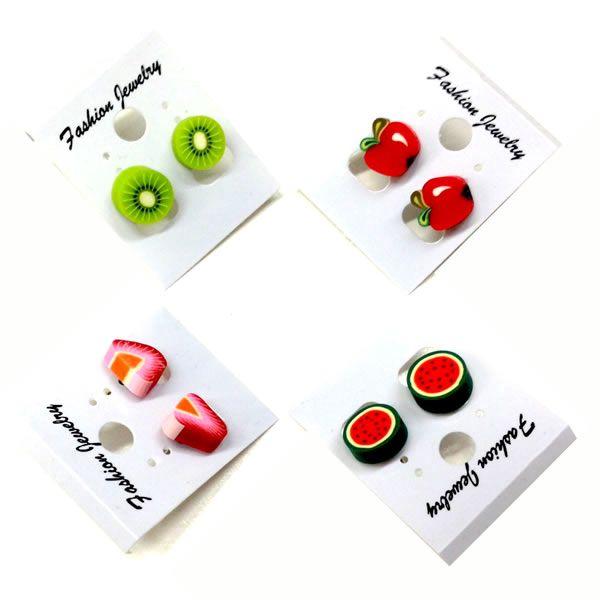 Náušnice s motivem ovoce z fimo hmoty a poštovné ZDARMA s dodáním do 3 dnů! - 8907920