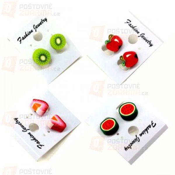 Náušnice s motivem ovoce z fimo hmoty a poštovné ZDARMA s dodáním do 3 dnů! - 11907920