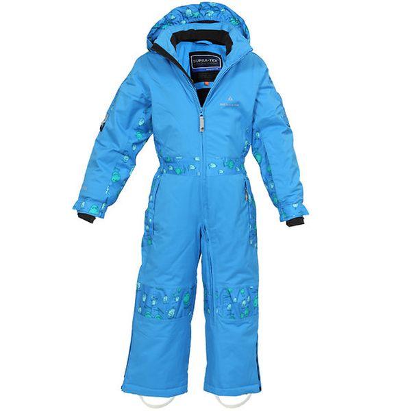 Dětská modrá funkční lyžařská kombinéza Bergson
