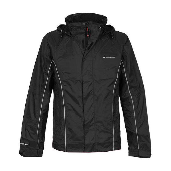 Dětská černá bunda s kapucí Bergson