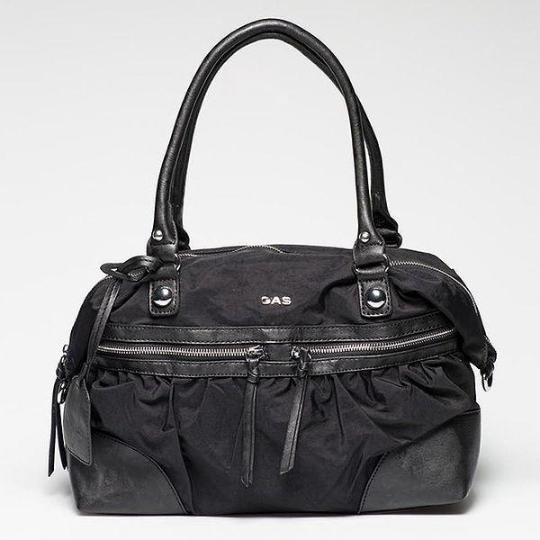 Dámská černá kabelka s vnější zipovou kapsičkou Gas