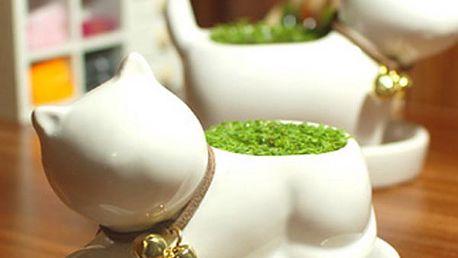 Keramický květináč ve tvaru kočičky - 2 typy a poštovné ZDARMA! - 5307899