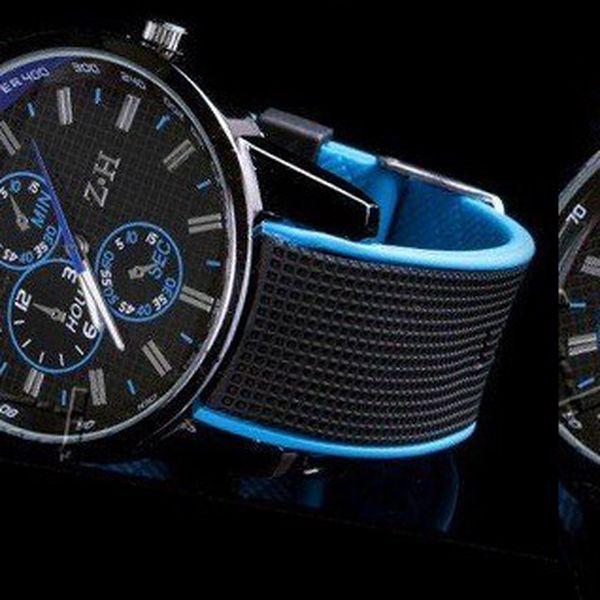LUXUSNÉ hodinky SINOBI ZH vyrobené z kvalitného silikónového športového pásku s luxusným ciferníkom!