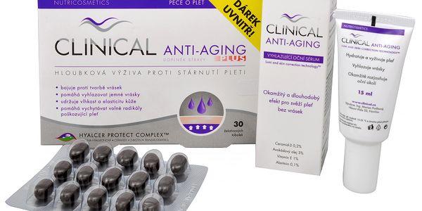 Clinical Clinical Anti-aging Plus 30 tob. + Vyhlazující oční sérum 15 ml ZDARMA