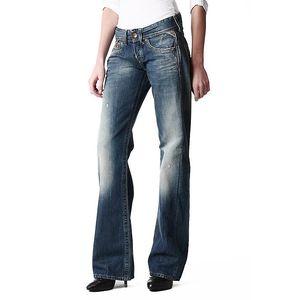 Dámské zvonové džíny s šisováním Replay