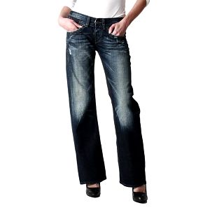 Dámské tmavě modré volné džíny Replay