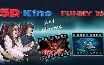 2+1 vstupenka do 5D kina – zábava a adrenalin