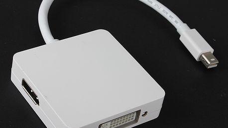 3v1 adaptér Mini DisplayPort na DVI, HDMI a DisplayPort a poštovné ZDARMA! - 9107939