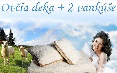 Ovčí deka + 2 polštáře pro příjemný spánek i lenošení s poštovným v ceně!