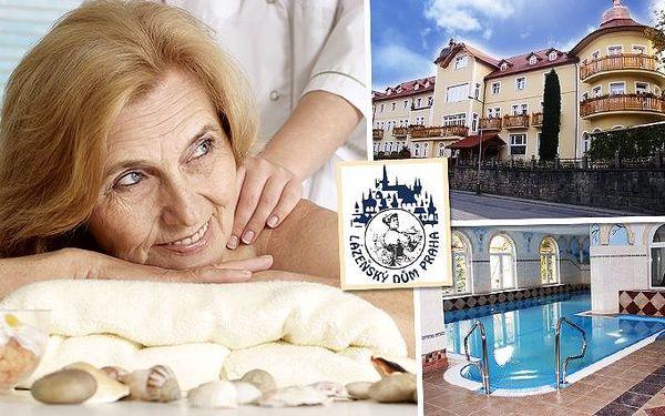 3denní lázeňský pobyt s bohatým wellness pro jednoho v Luhačovicích v lázeňském domě Praha