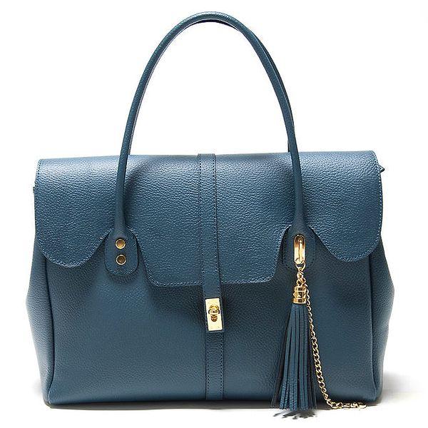 Dámská modrá kabelka s ozdobným střapcem Isabella Rhea