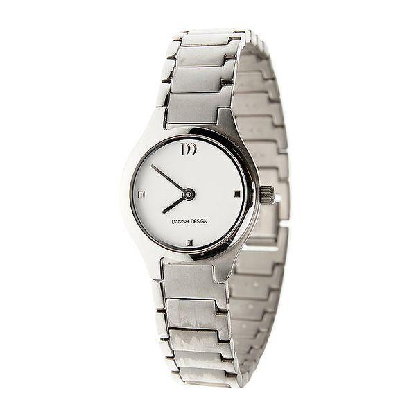 Dámské titanové hodinky Danish Design s bílým ciferníkem
