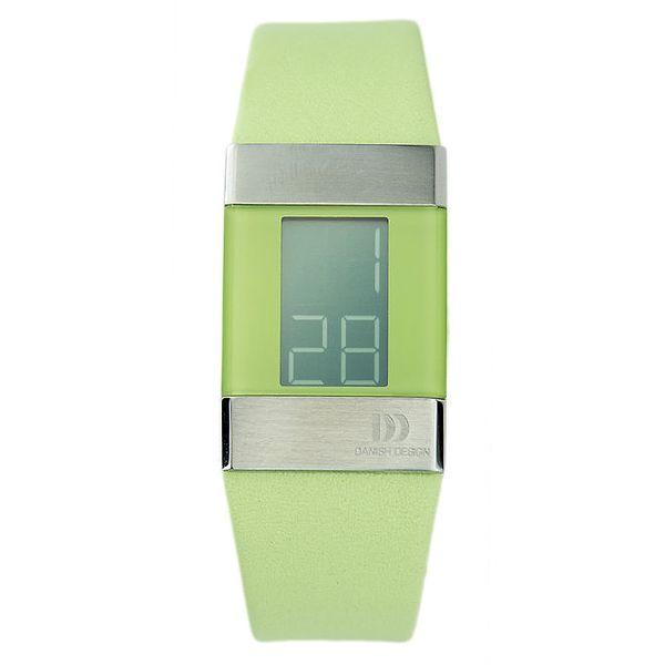 Zelené digitální hodinky Danish Design