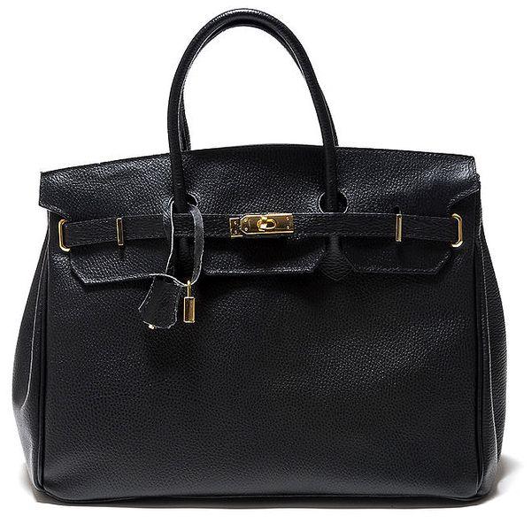 Dámská černá kufříková kožená kabelka Isabella Rhea