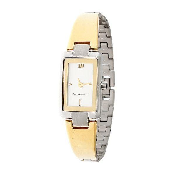 Dámské zlato-stříbrné náramkové hodinky Danish Design
