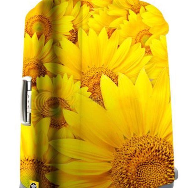 Obal na cestovní kufr Suit sunflower s motivem slunečnice