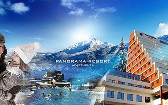 Dovolená na Štrbském Plese v moderním hotelově apartmánovém resortu PANORAMA ve VYSOKÝCH TATRÁCH již od 3240 Kč! Užijte si relax s nádherným výhledem na Vysoké Tatry! Internet, SKIBUS a dítě do 3 let ZDARMA! Sleva 57%!