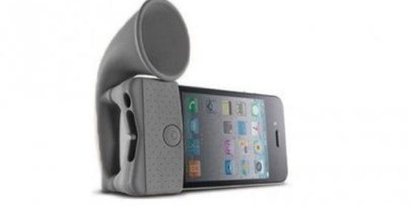 Zlevněno! Stojan a zesilovač zvuku pro iPhone 4!! Dokonalý společník při sledování filmů! Více než 50% sleva!