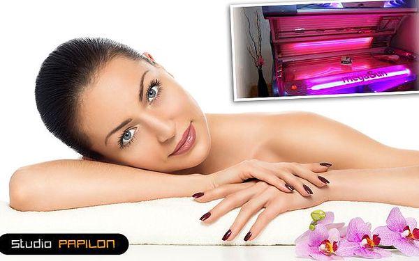 Kosmetické ošetření světelnou terapií v kolagenáriu Mega Sun Ultra Power