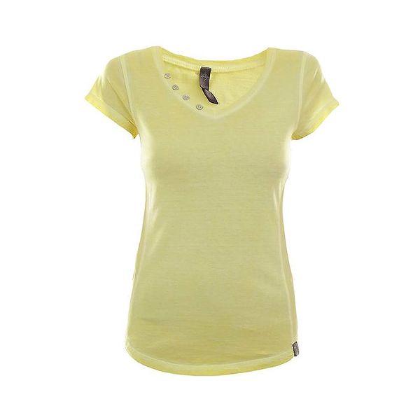 Dámské žluté tričko s krátkým rukávem Fuga