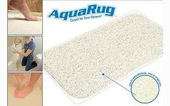 Chytrá a hygienická koupelnová podložka Aqua Rug. Čistota a pohodlí pro vaše nohy. Podložka Aqua Rug nezadržuje vodu a díky tomu zůstává čistá mnohem déle!