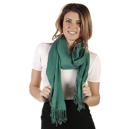Dámská zelená vlněná šála Ada Gatti
