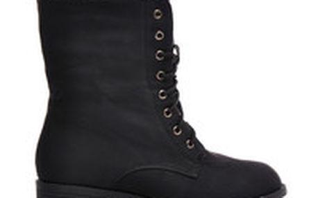 Černé vojenské boty