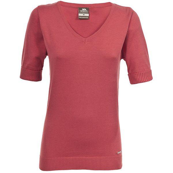 Dámský červený svetřík s krátkými rukávy Trespass