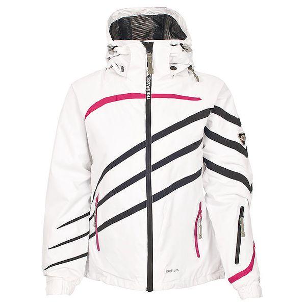 Dámská bílá lyžařská bunda s proužky Trespass