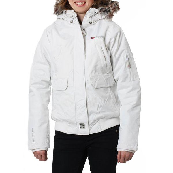Dámská bunda Geographical Norway bílá kožíšek