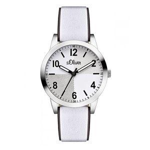 Dámské světlé analogové hodinky s koženým páskem s.Oliver