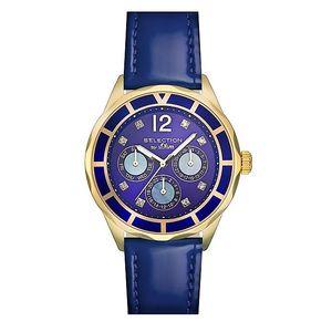 Dámské hodinky s datumovkou a modrým páskem s.Oliver