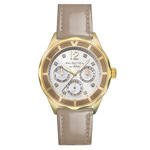 Dámské hodinky s datumovkou a béžovým páskem s.Oliver