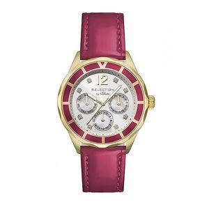 Dámské hodinky s datumovkou a červeným páskem s.Oliver