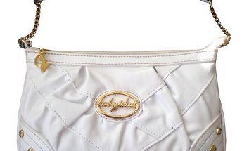 Dámská bílá kabelka Baby Phat s kamínky