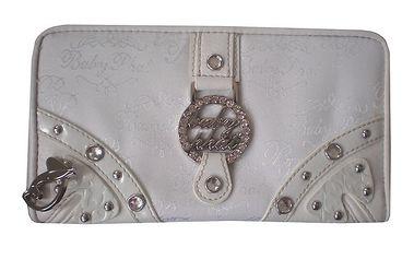 Bílá dámská podlouhlá peněženka Baby Phat