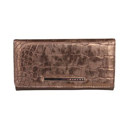 Dámská podlouhlá bronzová peněženka Sisley