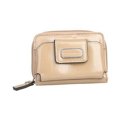 Dámská béžová lakovaná peněženka Benetton