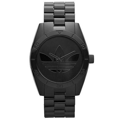 Černé ocelové hodinky Adidas
