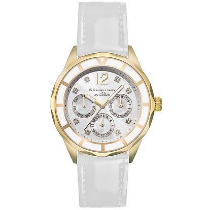Dámské hodinky s multifunkčním ciferníkem a bílým páskem s.Oliver