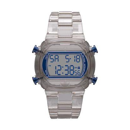 Digitální hodinky s šedým řemínkem Adidas