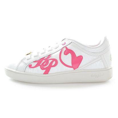 Dámské bílé tenisky s růžovým nápisem Baby Phat