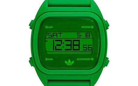 Zelené plastové digitální hodinky Adidas