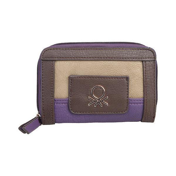 Dámská menší fialovohnědá peněženka Benetton