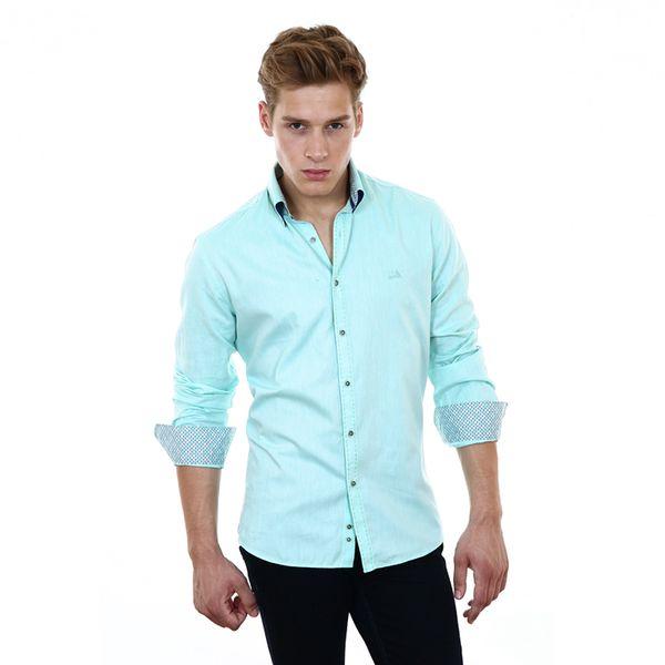 Pánská košile Pontto světle modrá