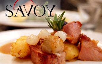 Sleva na VEŠKERÁ JÍDLA ve vyhlášené restauraci SAVOY v samém centru Brna na Jakubském nám.! Ochutnejte výborné steaky, saláty, předkrmy, polévky a domácí dezerty!!!