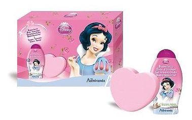 Dárková sada PRINCESS. Sprchový gel 250ml + mycí žínka