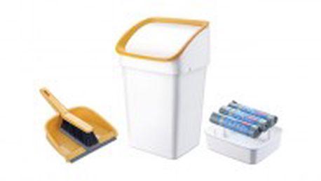 Tescoma odpadkový koš CLEAN KIT 21 l, se smetáčkem, lopatkou a sáčky. 3 roky záruka